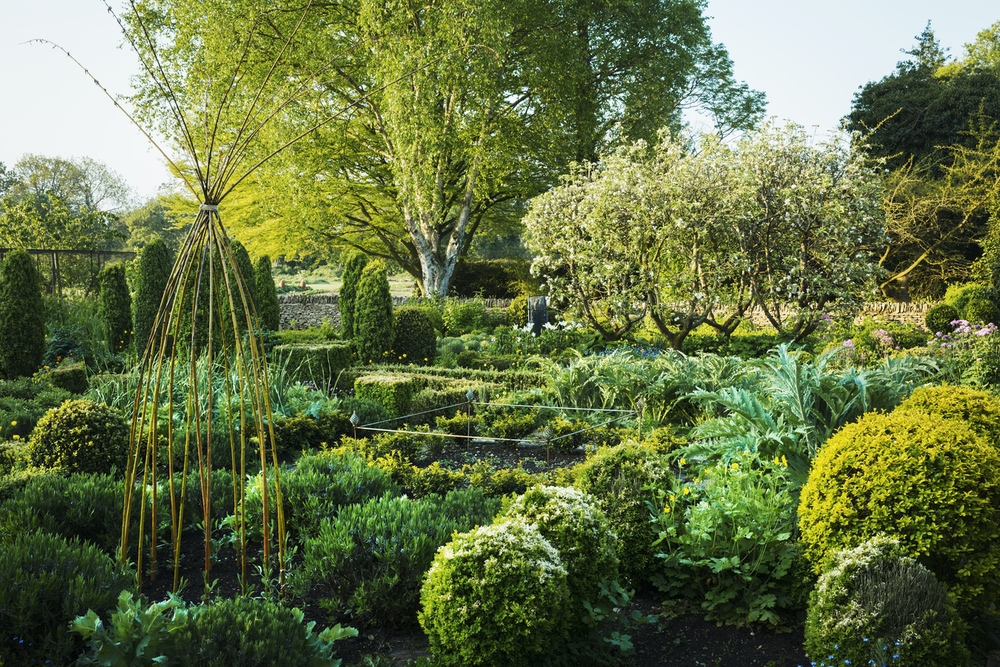 view of garden with flower beds shrubs and trees i UVJ24ZV